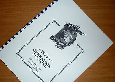 APPLE-1 Computer Operation Manual and Users Owners Manual 1976