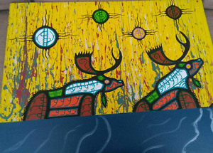 ORIGINAL PAINTING BY LATE MI'KMAQ ARTIST DAVID BROOKS