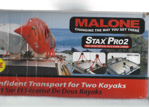 Malone Stax Pro 2 Universal Car Top Fold Down Kayak  Carrier