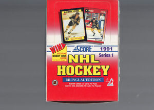 score hockey boite carte 36 pack/box 1991