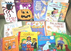 HALLOWEEN-Clifford-Snoopy-Babar-PUMPKINS-Dr. Seuss-Owls-BOOKS