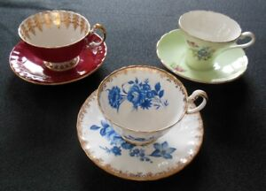 Aynsley Cups and Saucers