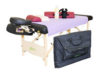 Table de massage-table+sheet+huile+Traversins+Chariot d'huile
