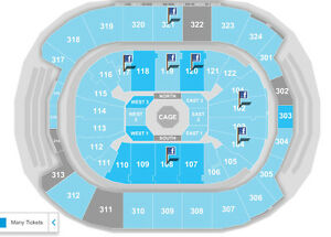 UFC 206 Lower Level - 2or4 seats - BEST OFFER - BELOW FACE!!