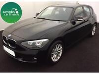 £219.87 PER MONTH BLACK 2012 BMW 116D 1.6 EFFICIENT DYNAMICS 5 DR DIESEL MANUAL