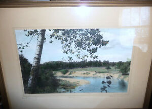 """Hugh Cummings """"Sauble River"""" 1900's Hand Colored Photograph Stratford Kitchener Area image 1"""