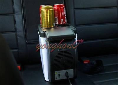12v Mini Fridge Car Small Refrigerator Compact Refridgerator Cooler Warmer 6L