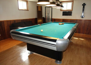 Dufferin 9' Slate Tournament Pool Table