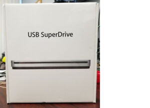 Apple USB SuperDrive. Brand new. Sealed.