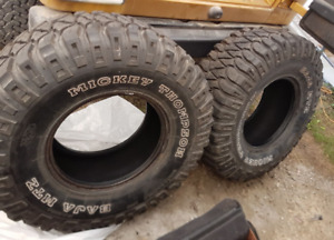 WANTED 2 Mickey Thompson Tires 33 x 12.50x15s