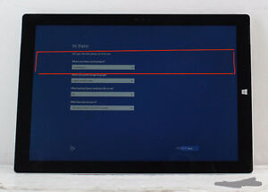 Microsoft Surface pro 3 i5 128GB With Charger,Pen(See condition)