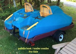 Paddle boat complete with it's dedicated trailer