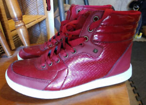 UH red hightop shoes size 9