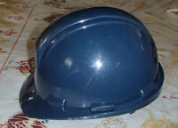 Blue hard hat with adjustable knob for fitting NEW never used