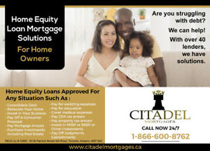 Home Equity Loans//Second mortgage ALL CREDIT & INCOME APPROVED