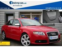 2005 55 Audi S4 4.2 V8 Quattro Saloon in Red with FSH and recent full service