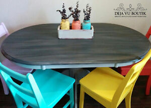 Refinished table and chairs