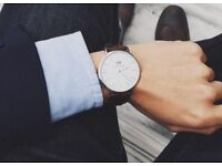 Brand New DW Watch, Rose Gold colour/Leather Strap - in box with tags (Daniel Wellington)