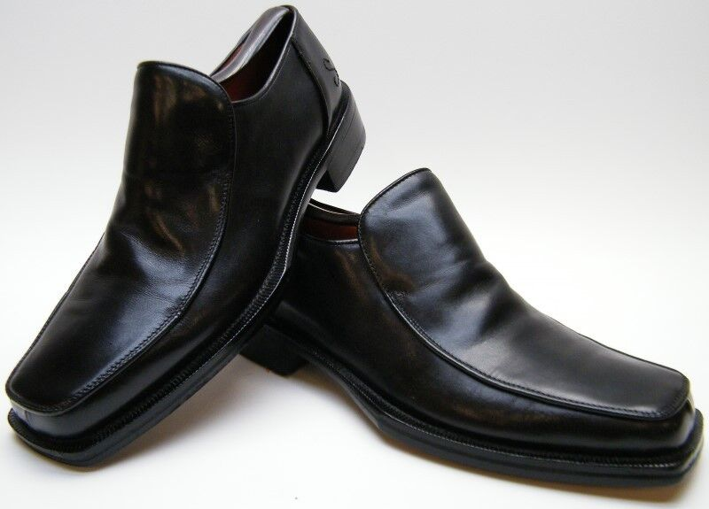 Details About Mens Oliver Sweeney Poitier Black Leather Loafer Square Toe Dress Shoes Sz 9 M