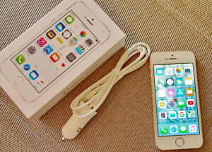 iPhone 5s – Factory Unlocked, Mint Condition + 4 Cases