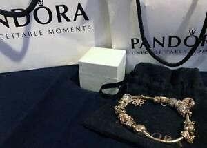 Pandora 14kt Gold Bracelet & Charms - $3000 off retail price Bittern Mornington Peninsula Preview