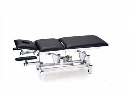 2 Motor Black Bed Table Physio Chiropractor Electric Adjustable