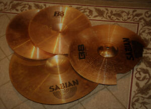 Cymbales Sabian B8 hi-hats + Ride + Crash