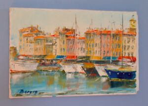 Richard Bergon Original  Oil Painting St. Tropez