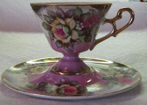 Pretty tea cup and saucer Windsor Region Ontario image 1