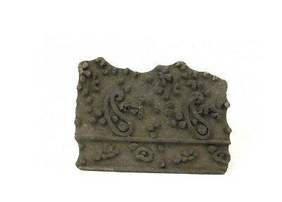Antique Bunta Wooden stamp printing Fabric textile Batik Rajasthan India D9 D