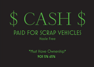 CASH FOR SCRAP VEHICLES