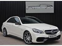 Mercedes E63 AMG 5.5 V8 BiTurbo ( 557bhp ) MCT *Diamond White+Pan Roof+VAT Q