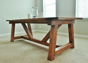 Custom harvest table