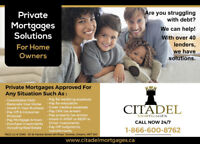 Private 2nd Mortgages from direct Lender and Mortgage Agent