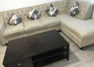 Sectional sofa and mattress
