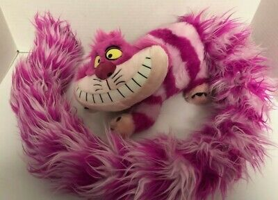 "CHESHIRE CAT 57"" Plush NWT Long Boa Tail Disney Parks Alice In Wonderland Fluffy"