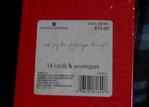 13  Christmas Greeting Cards & Envelopes;American Greeting box SEASON GREETING