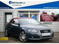 2008 08 Audi A3 Cabriolet 1.8TFSI Sport With Full RED Leather & 18'' Alollys