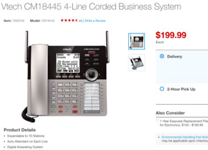 Brand New 4 Line Small Business System!