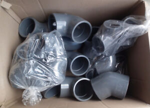 Lots of PVC Plumbing parts - incl Super Bloc Ball Valves