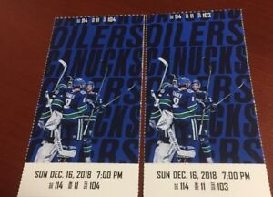 Vancouver Canucks Hard Tickets
