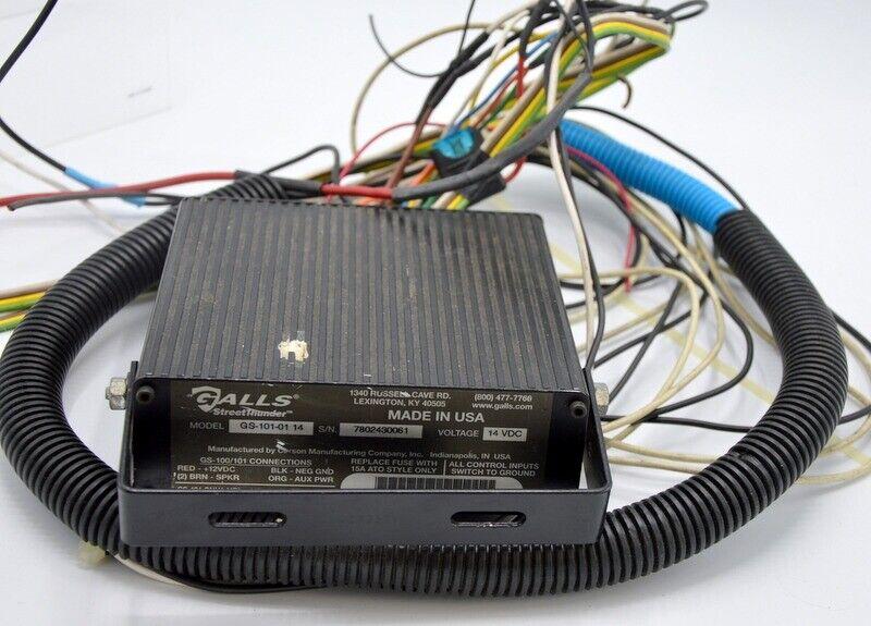 """Galls """"Street Thunder"""" Model GS-101-01 14, 14VDC -Siren controller - no speaker."""
