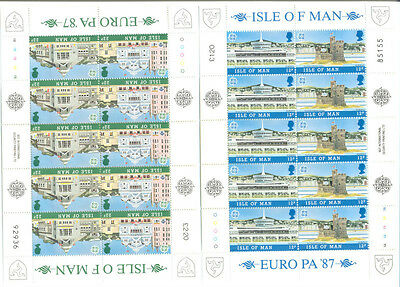Isle of Man-Europa 1987 set of 2 sheets mnh-Architecture