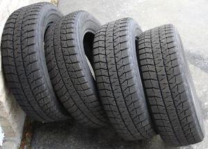 Set of 4 Bridgestone Blizzak WS80 Winter Tires - LIKE NEW!
