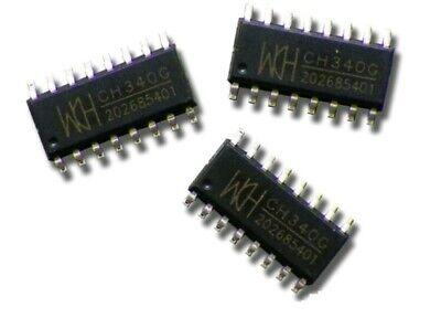 5pc Ch340g Ic Usb Transfer Serial Ic Smd Sop16 Usa Seller