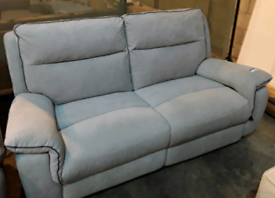 DFS BOOTLE MANUAL RECLINER SOFA SET EX DISPLAY FREE LOCAL DELIVERY
