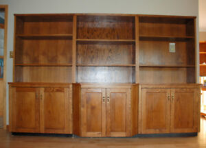 3-Piece, Solid Wood, Living/Family Room Storage and Display Unit