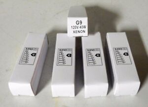 G9 40W Xenon bulbs, set of 5, NEW