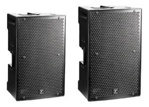 Yorkville PS15P Speakers with stands used