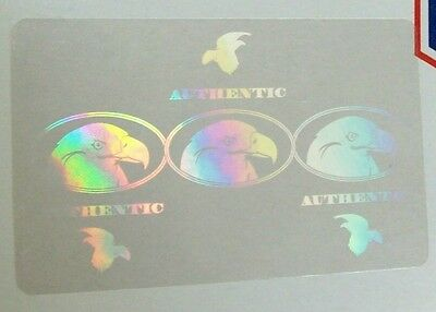 100 Security Id Overlay Hologram Tamper Proof 5005 Eagle Badge Security Id Pass